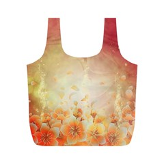 Flower Power, Cherry Blossom Full Print Recycle Bags (m)  by FantasyWorld7