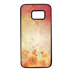 Flower Power, Cherry Blossom Samsung Galaxy S7 Black Seamless Case by FantasyWorld7
