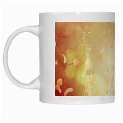 Flower Power, Cherry Blossom White Mugs by FantasyWorld7