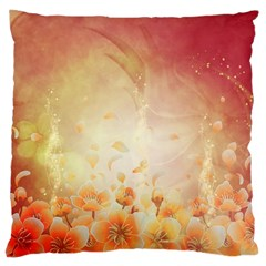 Flower Power, Cherry Blossom Large Cushion Case (two Sides) by FantasyWorld7