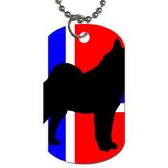 Elkie Silo On Norway Flag Dog Tag (one Side) by TailWags