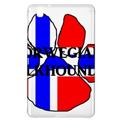 Norwegian Elkhound Name Norway Flag Paw Samsung Galaxy Tab Pro 8 4 Hardshell Case by TailWags