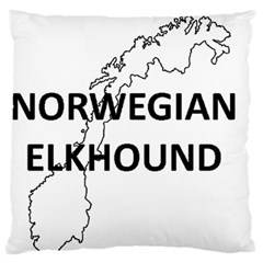 Norwegian Elkhound Norway Outline Large Flano Cushion Case (two Sides) by TailWags
