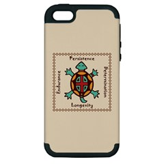 Turtle Animal Spirit Apple Iphone 5 Hardshell Case (pc+silicone) by linceazul