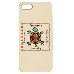 Turtle Animal Spirit Apple Iphone 5 Hardshell Case With Stand by linceazul