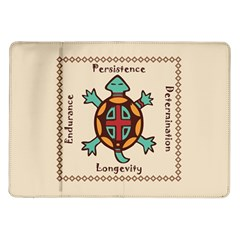 Turtle Animal Spirit Samsung Galaxy Tab 10 1  P7500 Flip Case by linceazul