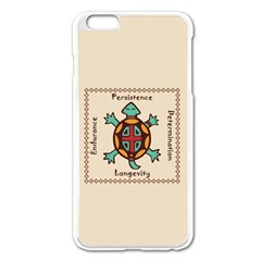 Turtle Animal Spirit Apple Iphone 6 Plus/6s Plus Enamel White Case by linceazul