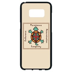 Turtle Animal Spirit Samsung Galaxy S8 Black Seamless Case by linceazul