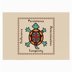 Turtle Animal Spirit Large Glasses Cloth (2 Side) by linceazul