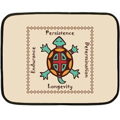 Turtle Animal Spirit Fleece Blanket (mini) by linceazul