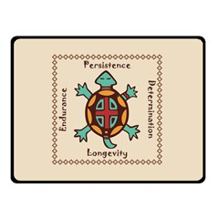 Turtle Animal Spirit Double Sided Fleece Blanket (small)  by linceazul