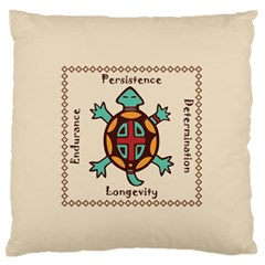 Turtle Animal Spirit Large Flano Cushion Case (one Side) by linceazul