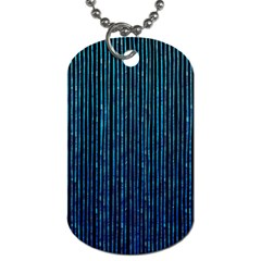 Stylish Abstract Blue Strips Dog Tag (one Side) by gatterwe