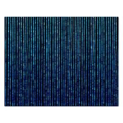 Stylish Abstract Blue Strips Rectangular Jigsaw Puzzl by gatterwe