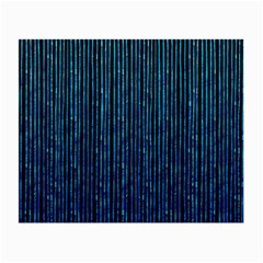 Stylish Abstract Blue Strips Small Glasses Cloth by gatterwe