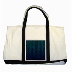 Stylish Abstract Blue Strips Two Tone Tote Bag by gatterwe