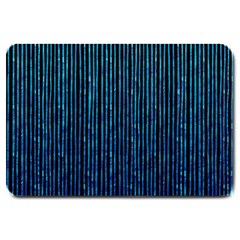 Stylish Abstract Blue Strips Large Doormat  by gatterwe