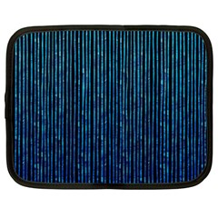 Stylish Abstract Blue Strips Netbook Case (large) by gatterwe
