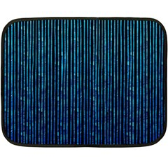 Stylish Abstract Blue Strips Double Sided Fleece Blanket (mini)  by gatterwe