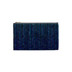 Stylish Abstract Blue Strips Cosmetic Bag (small)  by gatterwe