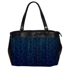 Stylish Abstract Blue Strips Office Handbags by gatterwe