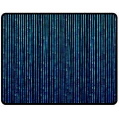 Stylish Abstract Blue Strips Fleece Blanket (medium)  by gatterwe