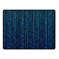 Stylish Abstract Blue Strips Fleece Blanket (small) by gatterwe