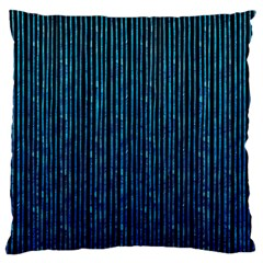 Stylish Abstract Blue Strips Large Cushion Case (two Sides) by gatterwe
