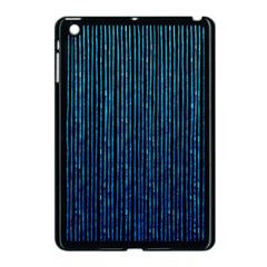 Stylish Abstract Blue Strips Apple Ipad Mini Case (black) by gatterwe
