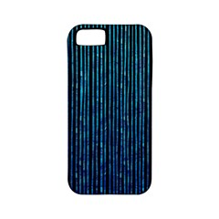 Stylish Abstract Blue Strips Apple Iphone 5 Classic Hardshell Case (pc+silicone) by gatterwe