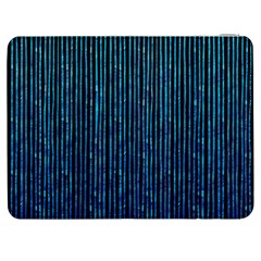 Stylish Abstract Blue Strips Samsung Galaxy Tab 7  P1000 Flip Case by gatterwe