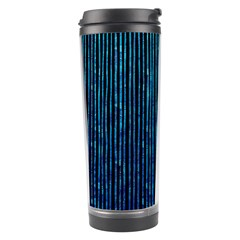 Stylish Abstract Blue Strips Travel Tumbler by gatterwe