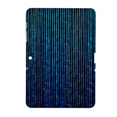 Stylish Abstract Blue Strips Samsung Galaxy Tab 2 (10 1 ) P5100 Hardshell Case  by gatterwe