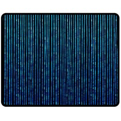 Stylish Abstract Blue Strips Double Sided Fleece Blanket (medium)  by gatterwe