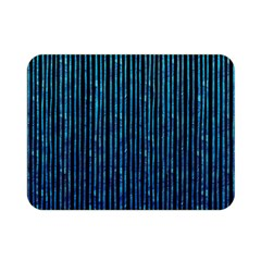 Stylish Abstract Blue Strips Double Sided Flano Blanket (mini)  by gatterwe