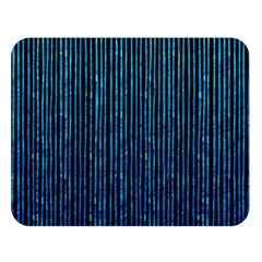 Stylish Abstract Blue Strips Double Sided Flano Blanket (large)  by gatterwe