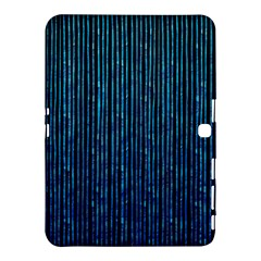 Stylish Abstract Blue Strips Samsung Galaxy Tab 4 (10 1 ) Hardshell Case  by gatterwe