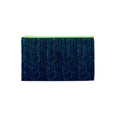 Stylish Abstract Blue Strips Cosmetic Bag (xs) by gatterwe