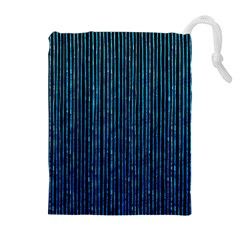 Stylish Abstract Blue Strips Drawstring Pouches (extra Large) by gatterwe