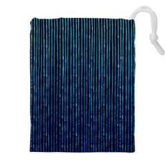 Stylish Abstract Blue Strips Drawstring Pouches (xxl) by gatterwe
