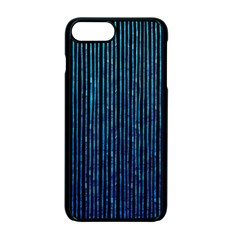 Stylish Abstract Blue Strips Apple Iphone 7 Plus Seamless Case (black) by gatterwe