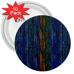 Stylish Colorful Strips 3  Buttons (10 Pack)  by gatterwe