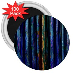 Stylish Colorful Strips 3  Magnets (100 Pack) by gatterwe