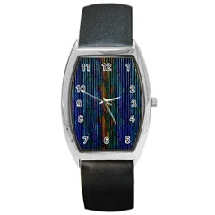 Stylish Colorful Strips Barrel Style Metal Watch by gatterwe