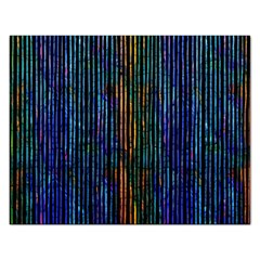 Stylish Colorful Strips Rectangular Jigsaw Puzzl by gatterwe