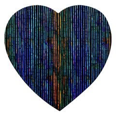 Stylish Colorful Strips Jigsaw Puzzle (heart) by gatterwe