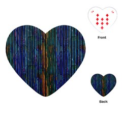 Stylish Colorful Strips Playing Cards (heart)  by gatterwe