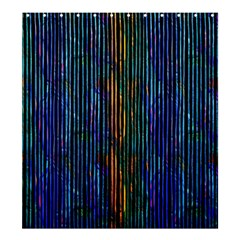 Stylish Colorful Strips Shower Curtain 66  X 72  (large)  by gatterwe