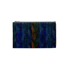 Stylish Colorful Strips Cosmetic Bag (small)  by gatterwe