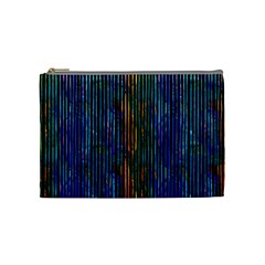 Stylish Colorful Strips Cosmetic Bag (medium)  by gatterwe